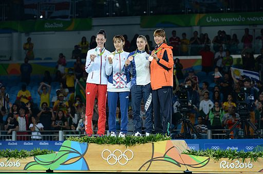 Taekwondo at the 2016 Summer Olympics – Women's 49 kg awarding ceremony 5