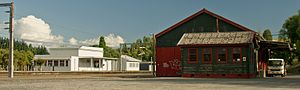 Taihape - Taihape Rail Stop and goods shed