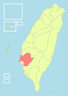 Location of Tainan County in Taiwan