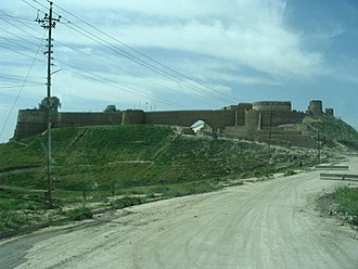 Destruction of cultural heritage by ISIL - The Tal Afar Citadel, which was partially destroyed in December 2014