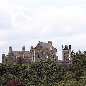 Ó hAnluain - Tandragee Castle, built by the Comte de Salis and the Dukes of Manchester over the foundations of The Ó Hanlon's ancient stronghold overlooking the Cusher river through the Clare Glen.