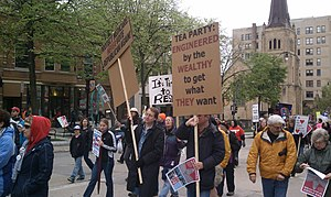 English: Day 90; Wisconsin Protests: Tens Of T...