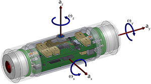 Sensor fish - Image: Technical drawing of the latest version of the Sensor Fish