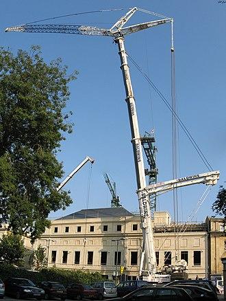 Liebherr Group - Image: Telescopic crane, South Gate, Bath