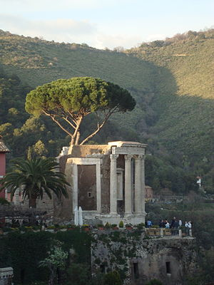 Temple of Vesta, Tivoli - A modern photograph
