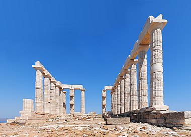 Temple of Poseidon from the East, June 2012.jpg