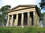 Temple of Theseus about 1/2 mile north of Hagley Hall
