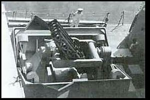 Terne ASW - Terne III Mk.8 ASW system opening its clam gate
