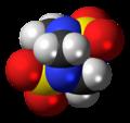 Tetramethylenedisulfotetramine molecule spacefill.png