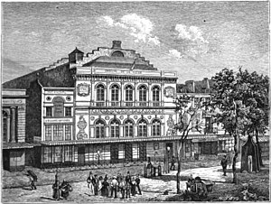 Théâtre de la Gaîté (boulevard du Temple) - The Théâtre de la Gaîté's fourth and last theatre on the boulevard du Temple, used from 1835 to 1862