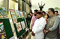 Thaawar Chand Gehlot visiting an exhibition, during the awards presentation ceremony of 'Drawing and Painting Competition' for student including students with disabilities.jpg