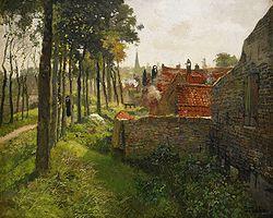 THAULOW Frits (1847-1906)  Le curé