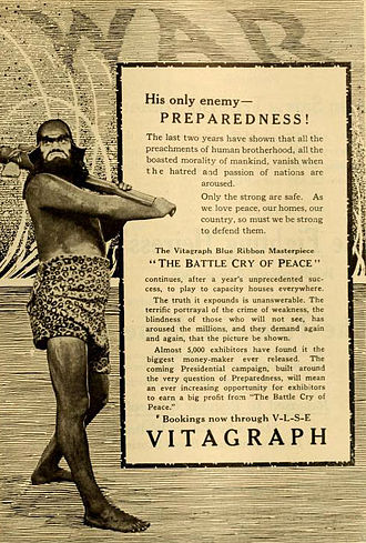 American entry into World War I - Advertisement for the film The Battle Cry of Peace