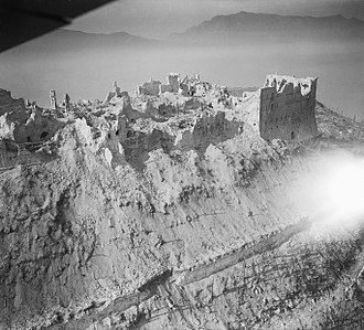 Ruins of the Benedictine monastery, during the Battle of Monte Cassino, Italian Campaign, May 1944 The Battle of Cassino, January-may 1944 C4363.jpg