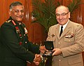 The Chief of Army Staff, France, Gen. Elrick Irastorza calls on the Chief of Army Staff, Gen. V.K. Singh, in New Delhi on January 31, 2011.jpg