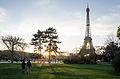 The Eiffel Tower at the sunset, Paris 20 April 2013.jpg
