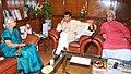 The Governor of Goa, Smt. Mridula Sinha meeting the Union Minister for Railways, Shri Suresh Prabhakar Prabhu, in New Delhi on July 30, 2015. The Minister of State for Railways, Shri Manoj Sinha is also seen.jpg