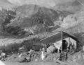 The Ice Cream stand at the foot of the Nisqually Glacier, in Mount Rainier National Park, in 1915..png