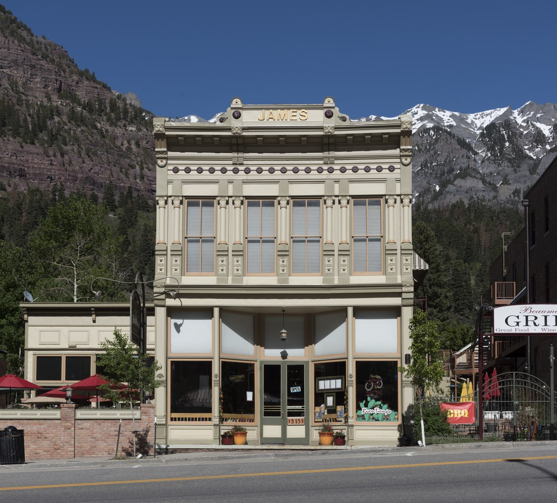 file the james building  a commercial structure in downtown ouray  colorado  an old mining