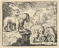 The Lion and the Lioness Pardon Renard and Order the Other Animals to Forget His Crimes from Hendrick van Alcmar's Renard The Fox MET DP837719.jpg