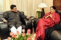 The Minister of State (Independent Charge) for Power, Coal and New and Renewable Energy, Shri Piyush Goyal meeting the Chief Minister of Rajasthan, Smt. Vasundhara Raje Scindia, in New Delhi on January 19, 2015.jpg