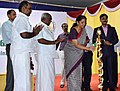 The Minister of State for Commerce & Industry (Independent Charge), Smt. Nirmala Sitharaman lighting the lamp to inaugurate the DigiDhan Mela programme, in Madurai, Tamil Nadu.jpg