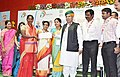 The Minister of State for Finance and Corporate Affairs, Shri Arjun Ram Meghwal handing over the certificate to the village sarpanch, at the inauguration of DigiDhan Mela, in Nizamabad, Telangana.jpg