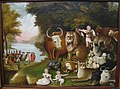 The Peaceable Kingdom, circa 1833, by Edward Hicks (1780-1849) - Worcester Art Museum - IMG 7682.JPG