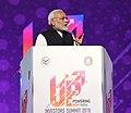 The Prime Minister, Shri Narendra Modi addressing at the inauguration of the UP Investors Summit 2018, in Lucknow, Uttar Pradesh on February 21, 2018 (1).jpg