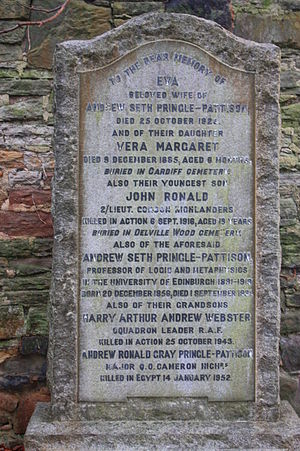 Andrew Seth Pringle-Pattison - The Pringle-Pattison grave, Morningside Cemetery, Edinburgh