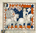 The Rider on a White Horse - Queen Mary Apocalypse (early 14th C), f.37 - BL Royal MS 19 B XV.jpg