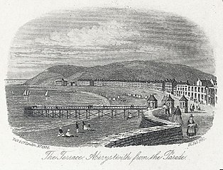 The Terrace, Aberystwith, from the Parade