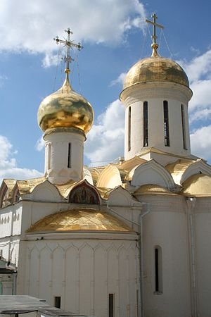 History of the Russian Orthodox Church - Image: The Trinity Cathedral Troitse Sergiyeva Lavra