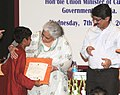 The Union Minister for Culture, Smt. Chandresh Kumari Katoch presented the certificates to Volunteers, at the inauguration of 'Yuva Saathi'- Young Visitor Programme, in New Delhi on August 07, 2013 (1).jpg
