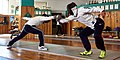 The bout between two fencers from different clubs at the facilities of Athenaikos Fencing Club.jpg