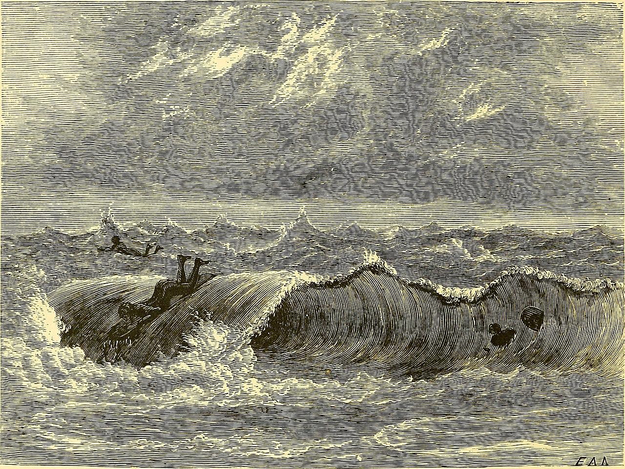 Ancient Hawaiian Symbols Illustration: Surf-Bat...