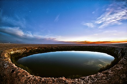 Two similar freshwater lagoons close to the Salar de Atacama. The eyes of Atacama.jpg