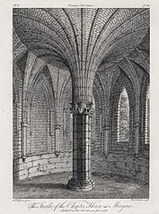 The inside of the chapter house at Margam
