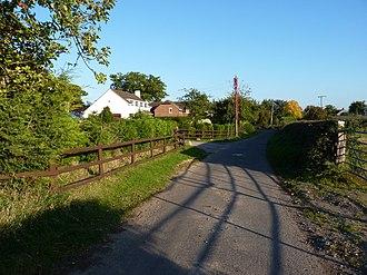 Leighton and Eaton Constantine - Image: The lane into Garmston geograph.org.uk 2106888