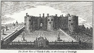 Chirk Castle - Image: The north view of Chirck i.e. Chirk Castle, in the county of Denbigh