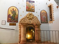 The place of the burial of the Shepherds. Crypt in the monastery. Beit Sahour.jpg