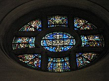 The round window above the altar at Guildford Cathedral - geograph.org.uk - 1152326.jpg