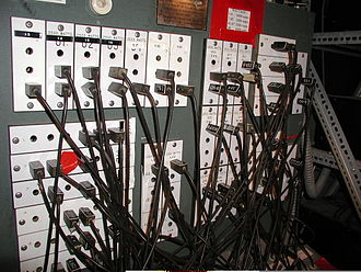 Patch panel - A patch bay for patching circuits to stage lighting instruments