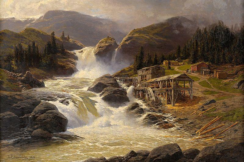 File:Themistokles Eckenbrecher Norwegischer Wasserfall mit Sägemühle 1908.jpg