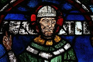 Canterbury Cathedral - Image of Thomas Becket from a stained glass window