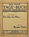 bruder hitler thomas mann essay Essays and criticism on thomas mann's death in venice - critical evaluation.