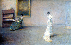 Thomas Dewing - Image: Thomas Wilmer Dewing The White Dress Google Art Project
