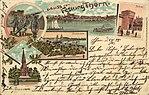 Thorn, Westpreußen - Kriegerdenkmal; Eisenbahnbrücke; Brückentor (Zeno Ansichtskarten).jpg