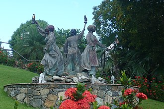 Mary Thomas (labor leader) - The Three Queens Fountain at Blackbeard's Castle, St. Thomas honors Queens Mary, Agnes, and Mathilda.