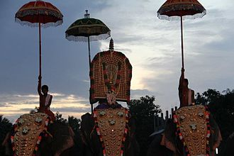 Thrikkakara Temple - Vamanamoorthy idol in the Aarattu procession at Thrikkakara temple
